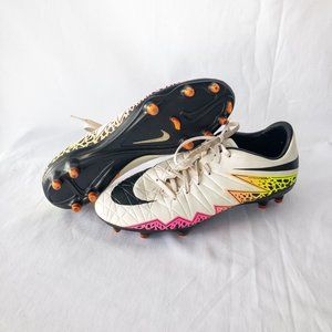 Nike Soccer Cleats - White, Black & Neon - Size 8